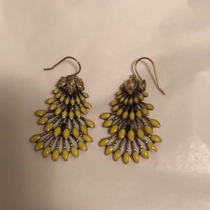 Stella and Dot Yellow Earrings